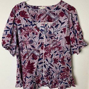 Lucky Brand floral print top Size Med